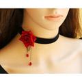 ロリータ 薔薇の首飾り 首輪 ロブスタークラスプ コスロリ アクセサリ