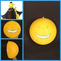 暗殺教室 殺せんせー(ころせんせー) 黄色 笑い顔 マスク コス用具 コスプレ道具