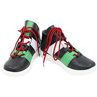 【ヒプノシスマイク ブーツ 】飴村乱数(あめむら らむだ)  合皮 ゴム底 コスプレ靴  コスプレブーツ