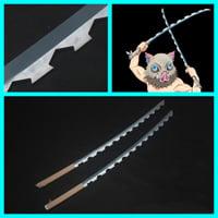 【鬼滅の刃 道具】嘴平伊之助 (はしびらいのすけ) 刀x2  コスプレ道具