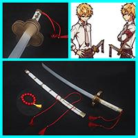 【地縛少年花子 道具】源輝(みなもと てる)  刀+鞘+ネックレス コスプレ道具