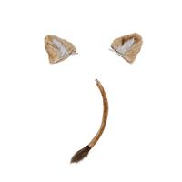 【ツイステ 道具】ディズニー ツイステッドワンダーランド  レオナ・キングスカラー  耳飾+尻尾 コスプレ道具