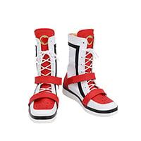 【ツイステ ブーツ】ディズニー ツイステッドワンダーランド   エース・トラッポラ  合皮 ゴム底 コスプレ靴  コスプレブーツ