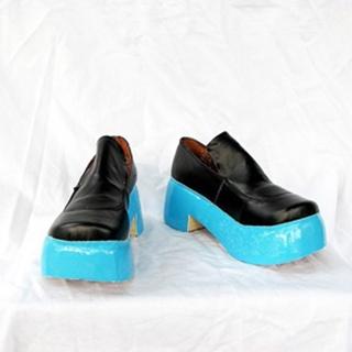 VOCALOID 初音 厚底 合皮 コスプレ靴
