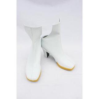 VOCALOID 鏡音リン·レン ホワイト 合皮 ミドルブーツ  コスプレブーツ