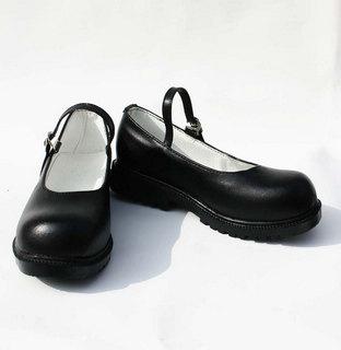 妖狐×僕SS 白鬼院凜々蝶 ブラック コスプレ靴 合皮  コスプレ靴