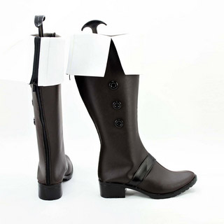 VOCALOID デッドラインサーカス 鏡音レン/神威がくぽ ブラック  低ヒール コスプレブーツ