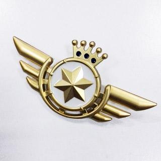 うたの☆プリンスさまっ ♪ Shining Airlines 先輩パイロット 翼の形 金属バッチ  コスプレ道具