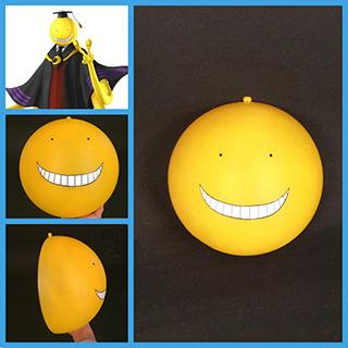 暗殺教室 殺せんせー  黄色 笑い顔 マスク コス用具 コスプレ道具