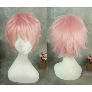 Tsukiuta ツキウタ。 Six Gravity シックスグラビティー 2月 如月恋  ピンク ショート コスプレウィッグ