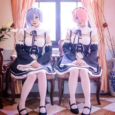 Re:ゼロから始める異世界生活 レム/ラム  風 コスプレ衣装