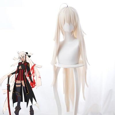 Fate/Grand Order  Saber/沖田総司(おきた そうじ ) Alter   風 コスプレウィッグ