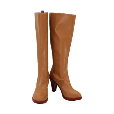 【ジョジョの奇妙な冒険 ブーツ 】黄金の風  トリッシュ・ウナ  合皮 ゴム底 コスプレ靴 コスプレブーツ
