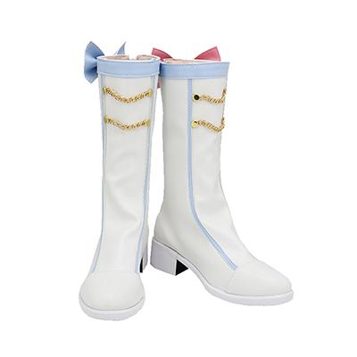 【VOCALOID ブーツ 】雪ミク2020/SNOW MIKU       風 コスプレ靴
