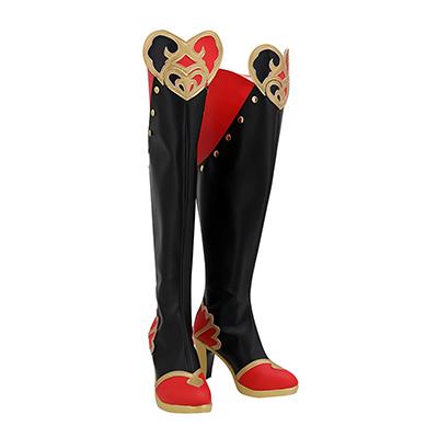【ツイステ ブーツ】ディズニー ツイステッドワンダーランド   リドル・ローズハート   合皮 ゴム底 コスプレ靴