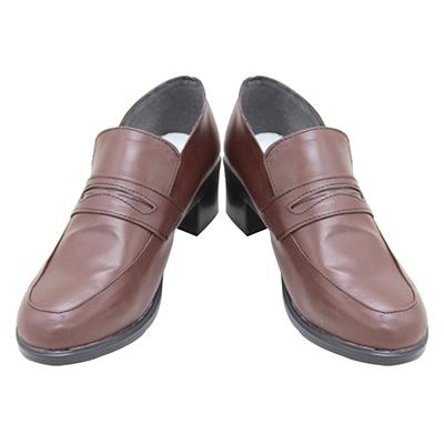 【ツイステ ブーツ】ディズニー ツイステッドワンダーランド  シルバー SNS用制服   合皮  ゴム底  コスプレ靴