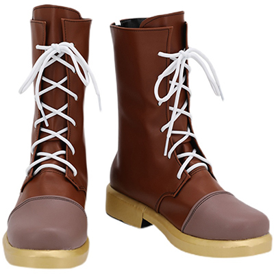 【魔法使いの約束 ブーツ】まほやく リケ 風 合皮 ゴム底 コスプレ靴