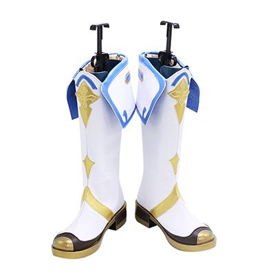 【原神 ブーツ】スクロース 風 合皮  ゴム底  コスプレブーツ