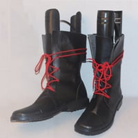 【ヒプノシスマイク ブーツ 】毒島メイソン理鶯(ぶすじま メイソン りおう) 合皮 ゴム底 コスプレ靴 コスプレブーツ