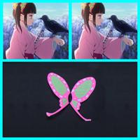 【鬼滅の刃 道具】 栗花落カナヲ(つゆり かなを) 髪飾り コスプレ道具