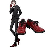 【ヒプノシスマイク ブーツ 】入間銃兎(いるま じゅうと) 合皮  ゴム底  コスプレ靴