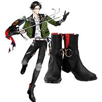 【刀剣乱舞 ブーツ 】豊前江(ぶぜんごう) 合皮  ゴム底  コスプレ靴